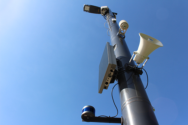 Devices integrated into a smart pole